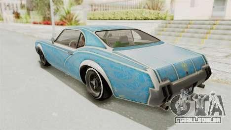 GTA 5 Declasse Sabre GT2 B para as rodas de GTA San Andreas