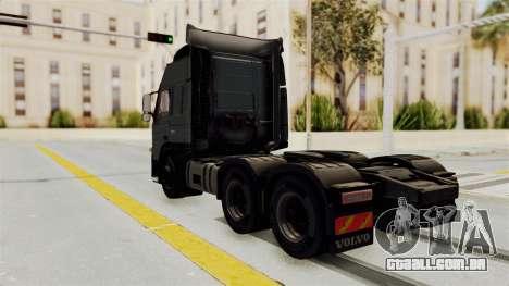 Volvo FM Euro 6 6x4 v1.0 para GTA San Andreas traseira esquerda vista