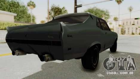 Chevrolet Nova 1969 StreetStyle para GTA San Andreas traseira esquerda vista