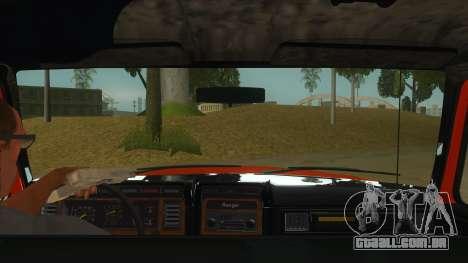 1984 Ford F150 Final para GTA San Andreas vista interior