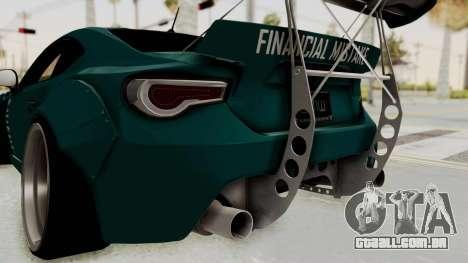 Scion FRS Rocket Bunny Killagram v1.0 para GTA San Andreas vista inferior