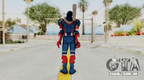 Marvel Heroes - Iron Patriot para GTA San Andreas terceira tela