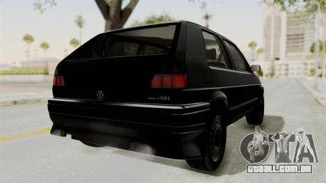 Volkswagen Golf 2 Tuning para GTA San Andreas traseira esquerda vista
