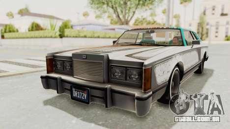 GTA 5 Dundreary Virgo Classic Custom v2 IVF para GTA San Andreas vista inferior