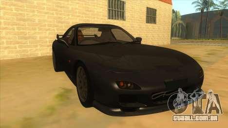 Mazda RX7 S Spirit R para GTA San Andreas vista traseira