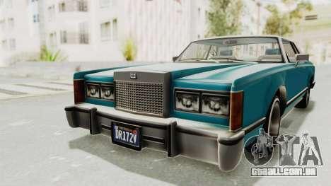 GTA 5 Dundreary Virgo Classic Custom v3 para GTA San Andreas vista traseira
