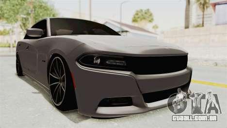 Dodge Charger RT 2015 para GTA San Andreas traseira esquerda vista