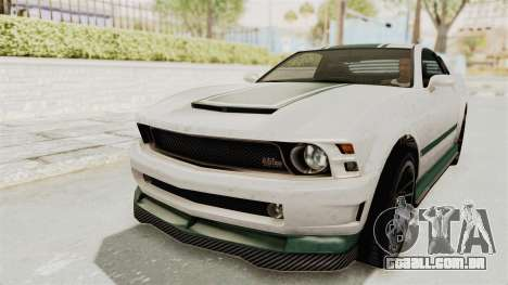 GTA 5 Vapid Dominator v2 SA Style para GTA San Andreas vista superior