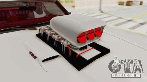 Pontiac Firebird 400 1968 Monster Truck para GTA San Andreas vista traseira