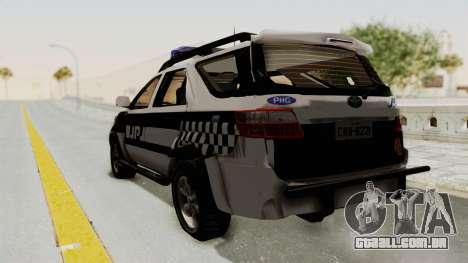 Toyota Fortuner JPJ White para GTA San Andreas esquerda vista