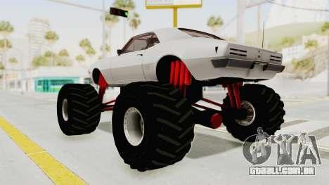 Pontiac Firebird 400 1968 Monster Truck para GTA San Andreas esquerda vista