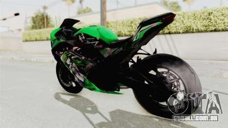 Kawasaki Ninja 250FI Kochiya Sanae Itasha para GTA San Andreas esquerda vista