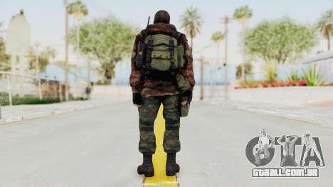 Battery Online Russian Soldier 9 v2 para GTA San Andreas terceira tela