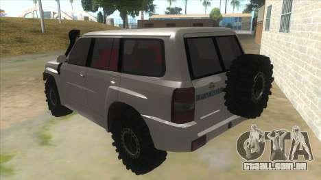 Nissan Patrol Y61 para GTA San Andreas traseira esquerda vista