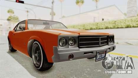 GTA 5 Declasse Sabre GT2 B para GTA San Andreas vista direita