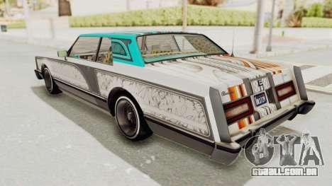 GTA 5 Dundreary Virgo Classic Custom v3 para o motor de GTA San Andreas