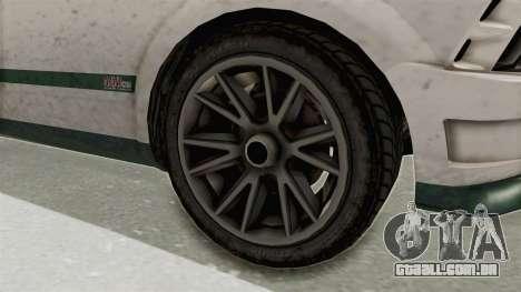 GTA 5 Vapid Dominator v2 SA Style para GTA San Andreas vista traseira