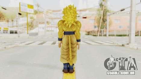 Dragon Ball Xenoverse Goku SSJ4 Golden para GTA San Andreas terceira tela