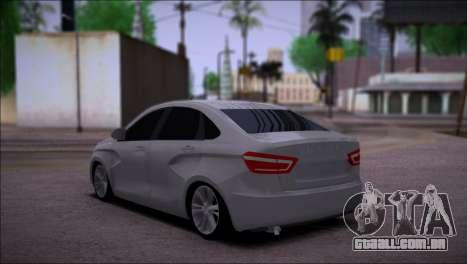 Lada Vesta Stock para GTA San Andreas traseira esquerda vista