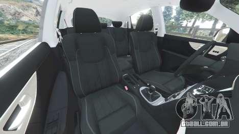 GTA 5 Infiniti FX S50 frente vista lateral direita