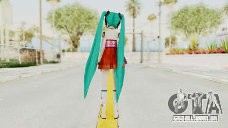 Project Diva F2nd - Hatsune Miku (Shrine Maiden) para GTA San Andreas terceira tela