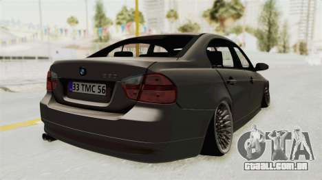 BMW 330i E92 Camber para GTA San Andreas esquerda vista
