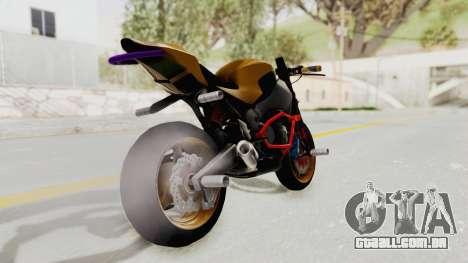 Honda CBR1000RR Naked Bike Stunt para GTA San Andreas esquerda vista