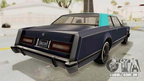 GTA 5 Dundreary Virgo Classic Custom v2 IVF para GTA San Andreas esquerda vista