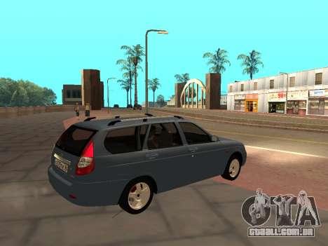 Lada Priora IVF para GTA San Andreas esquerda vista