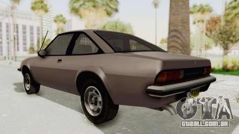 Vauxhall Cavalier MK1 Coupe para GTA San Andreas traseira esquerda vista