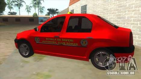 Dacia Logan Scoala para GTA San Andreas esquerda vista