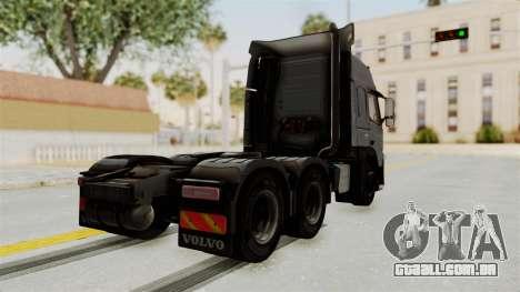 Volvo FM Euro 6 6x4 v1.0 para GTA San Andreas esquerda vista
