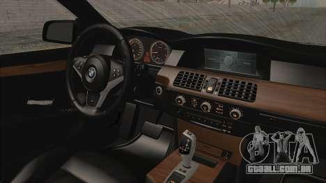 BMW 530D E60 para GTA San Andreas vista interior