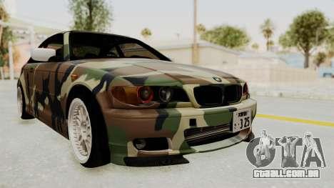 BMW 3 Series E46 para GTA San Andreas traseira esquerda vista