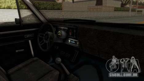 Chevrolet Nova 1969 StreetStyle para GTA San Andreas vista interior