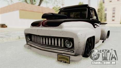 GTA 5 Slamvan Lowrider PJ1 para GTA San Andreas traseira esquerda vista
