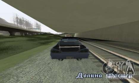 Padrão Elegia com um retrátil spoiler para GTA San Andreas vista traseira