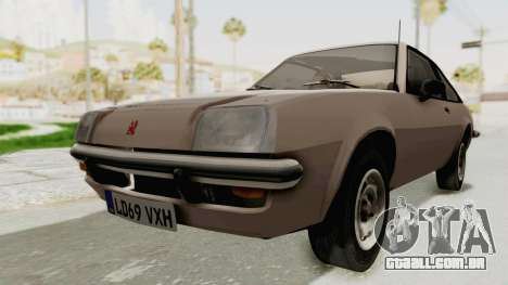 Vauxhall Cavalier MK1 Coupe para GTA San Andreas vista direita