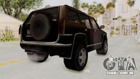 Landstalker from GTA 3 para GTA San Andreas traseira esquerda vista