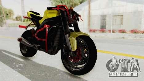 Kawasaki Ninja ZX-10R Nakedbike Stunter para GTA San Andreas traseira esquerda vista