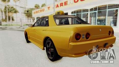 Nissan Skyline R32 4 Door Taxi para GTA San Andreas esquerda vista