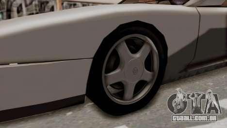 Jester Supra para GTA San Andreas vista traseira