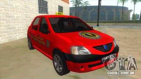 Dacia Logan Scoala para GTA San Andreas vista traseira