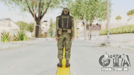 MGSV Ground Zeroes US Pilot v2 para GTA San Andreas terceira tela