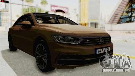 Volkswagen Passat B8 2016 RLine IVF para GTA San Andreas vista direita