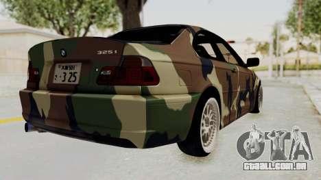 BMW 3 Series E46 para GTA San Andreas esquerda vista