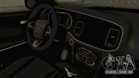 Dodge Charger RT 2015 para GTA San Andreas vista interior