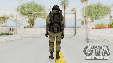 Advanced Warfare North Korean Assault Soldier para GTA San Andreas terceira tela
