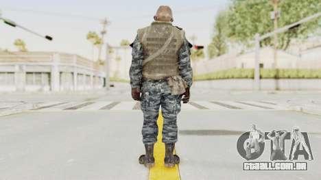 COD BO Russian Spetznas Flak MP v4 para GTA San Andreas terceira tela