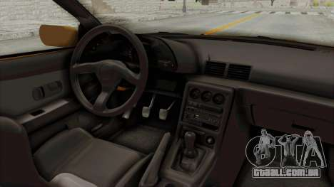 Nissan Skyline R32 4 Door Taxi para GTA San Andreas vista interior